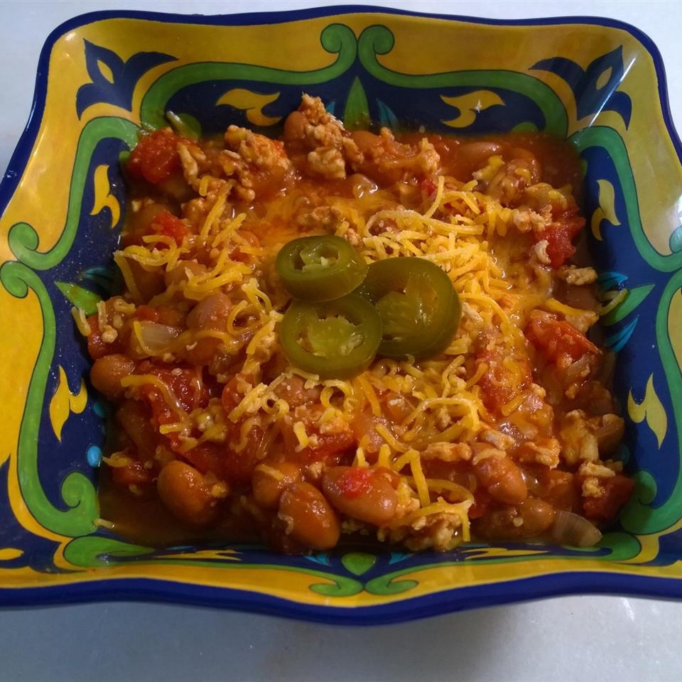 Hill Country Turkey Chili with Beans