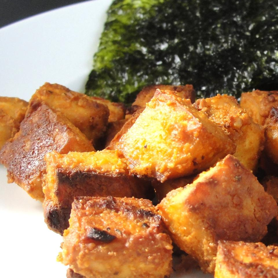 Spicy Baked Marinated Tofu Rock_lobster