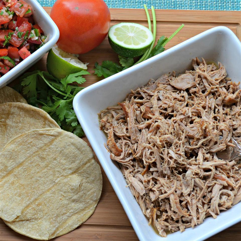 Slow Cooker Puerto Rican Shredded Pork Gene Payne