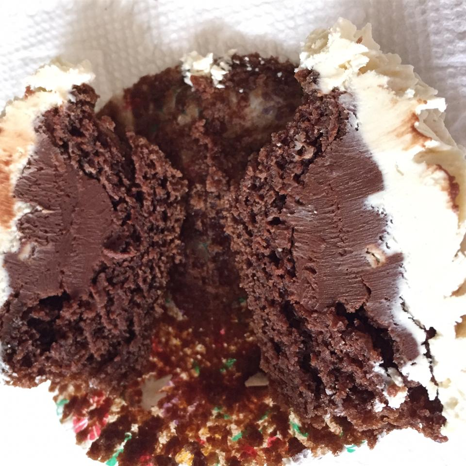Chocolate Beer Cupcakes With Whiskey Filling And Irish Cream Icing Jessica