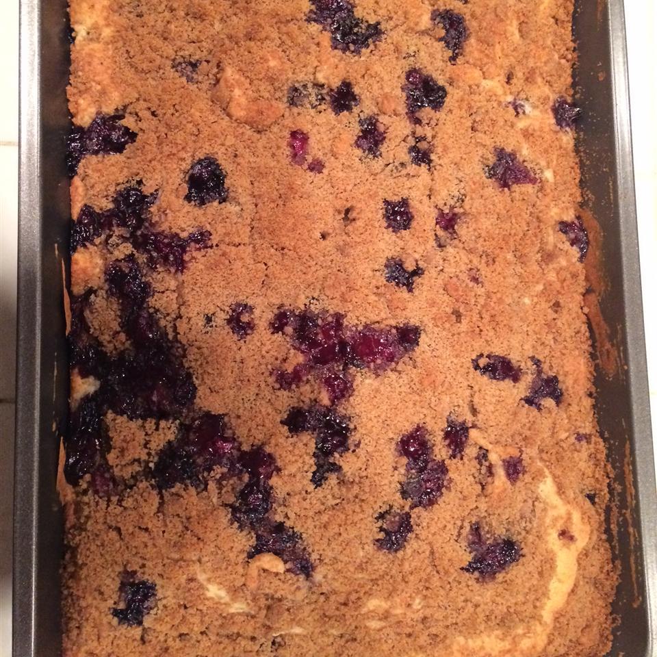 Sour Cream Blueberry Coffee Cake Budpimpster