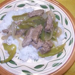 Pepper Steak and Rice Janet H