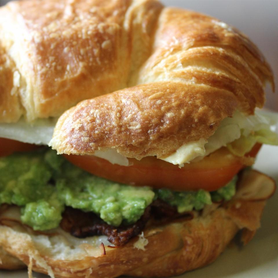 Croissant Club Sandwich mommyluvs2cook