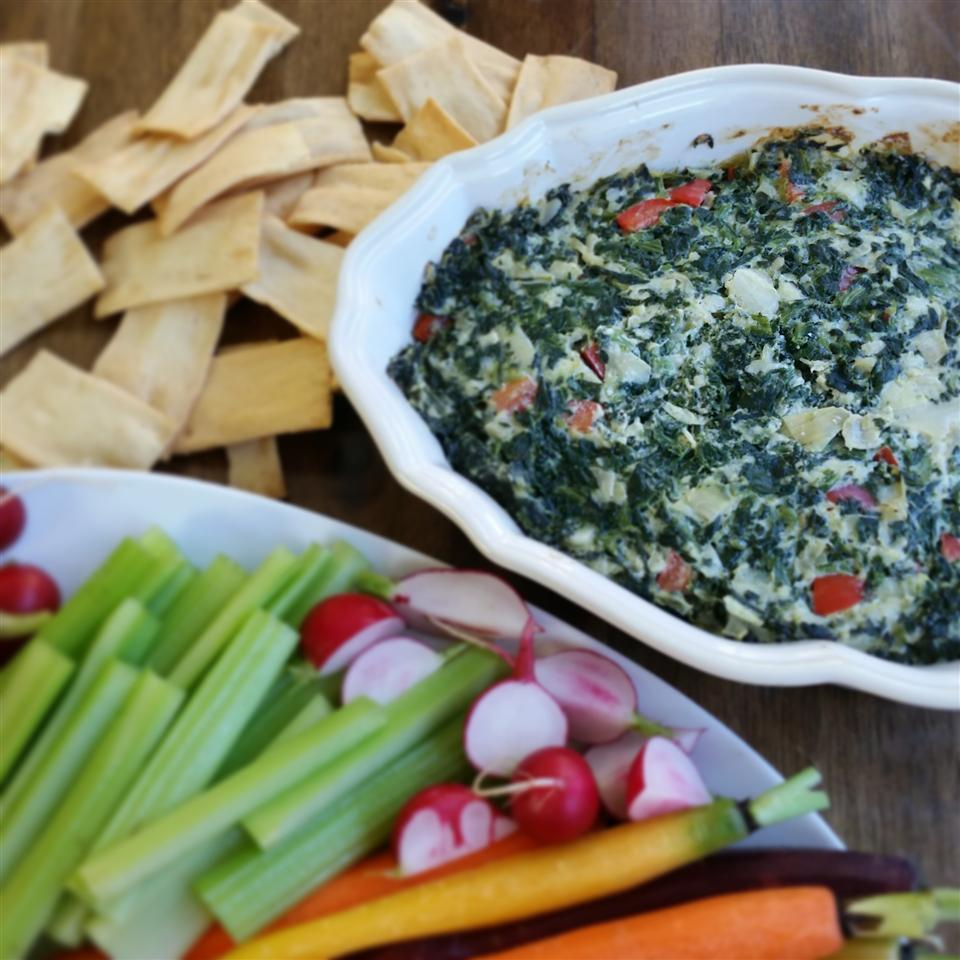 Holiday Hot Spinach Dip Snacking in the Kitchen