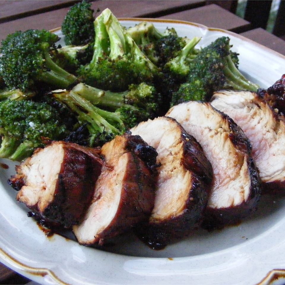 Molasses-Glazed Pork Tenderloin