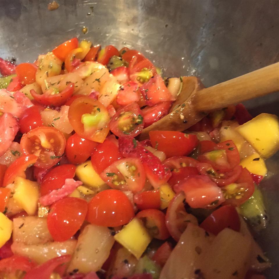 LaWanna's Mango Salsa on Tilapia Fillets Cathy
