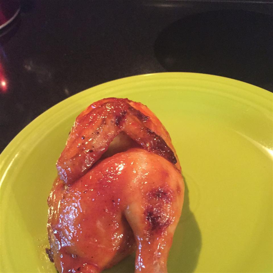 Orange Cornish Hen for Two spicy