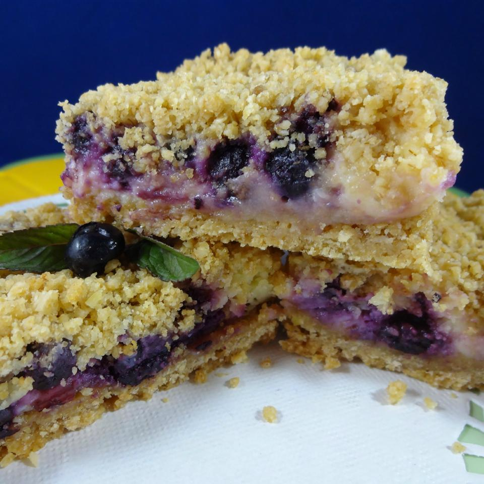 Blueberry Oat Dream Bars JimmyandNancy Long