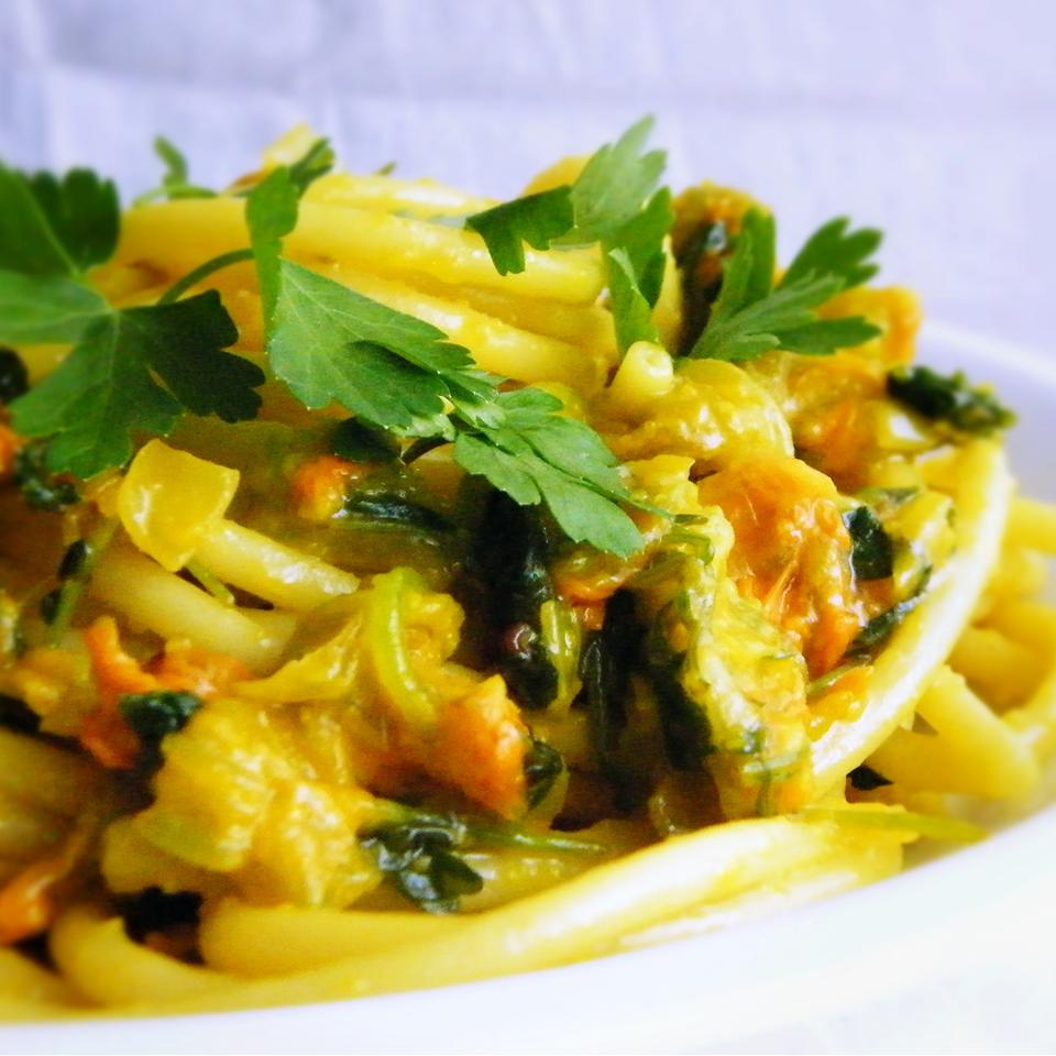 Pasta Ai Fiori Di Zucca (Pasta With Zucchini Blossoms) Buckwheat Queen