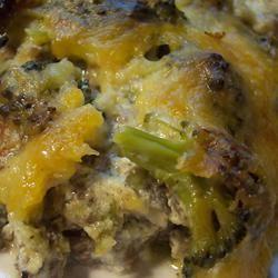 Broccoli Hamburger Casserole wannabe chefette