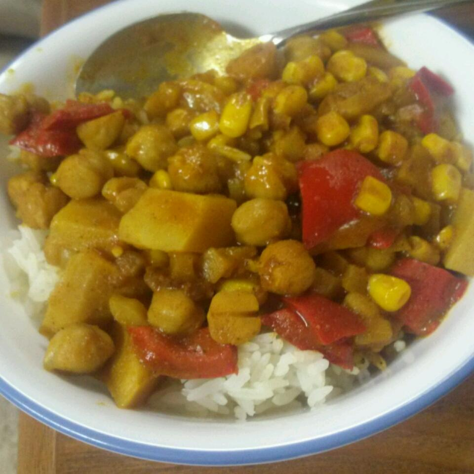 Vegetarian Chickpea Curry with Turnips