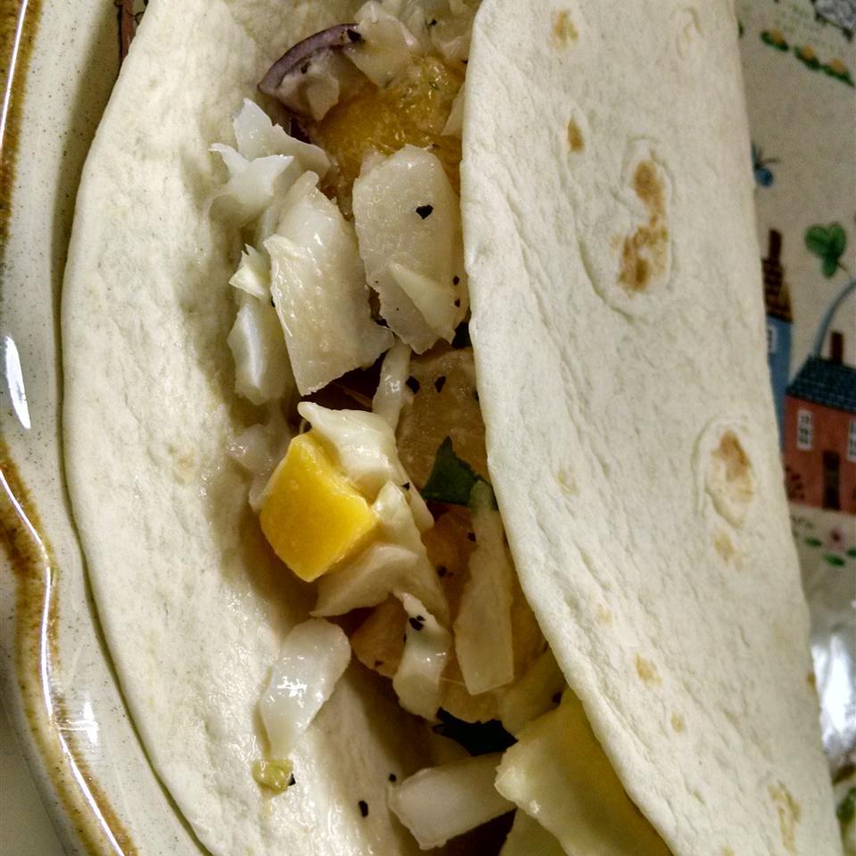 Easy Fish Tacos with Mango-Pineapple Slaw THOM79
