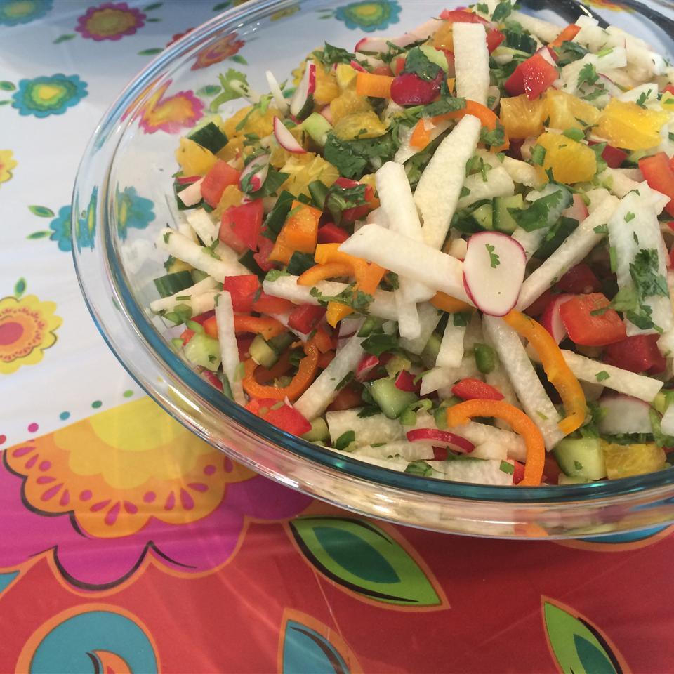 Refreshing Sweet and Spicy Jicama Salad (Vegan) voraciousgirl