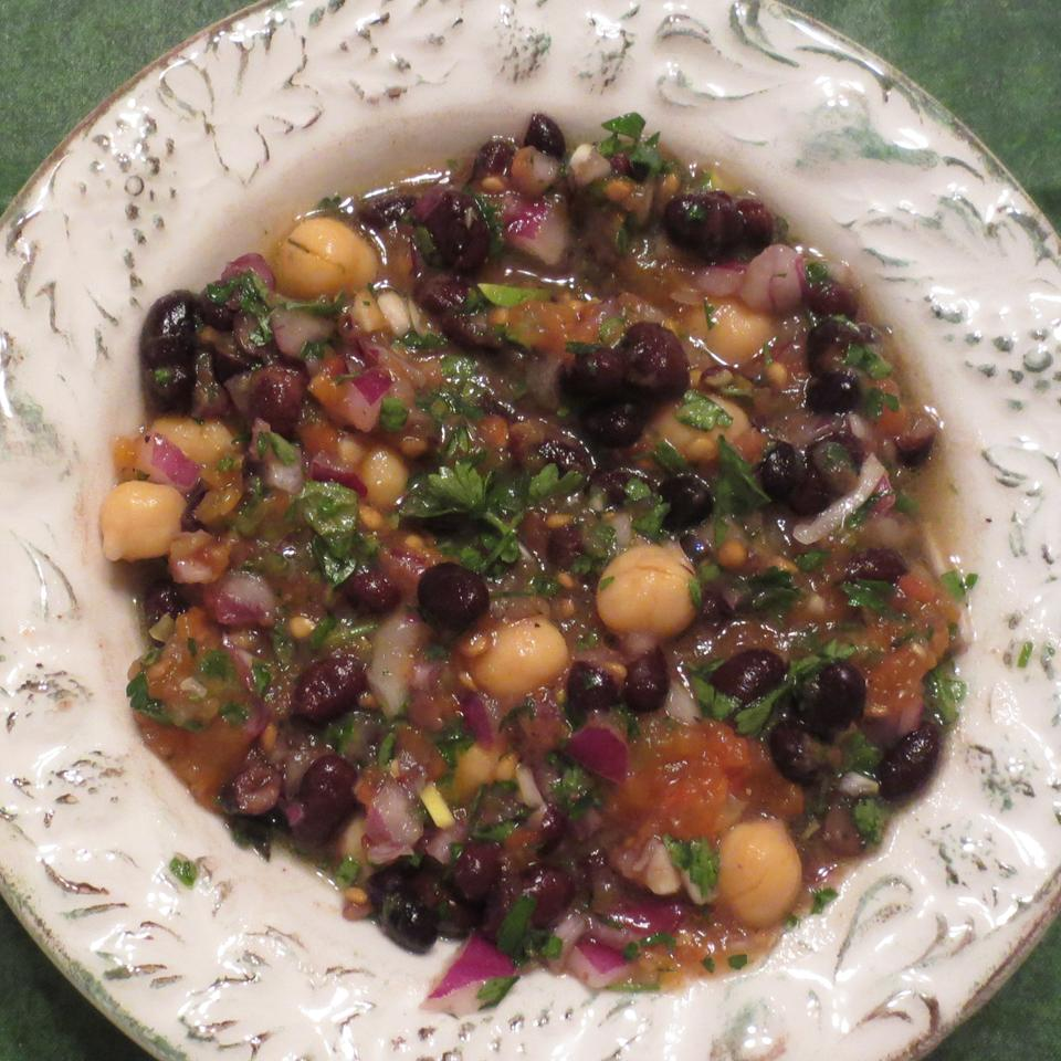 Balela (Chickpea and Black Bean Salad)