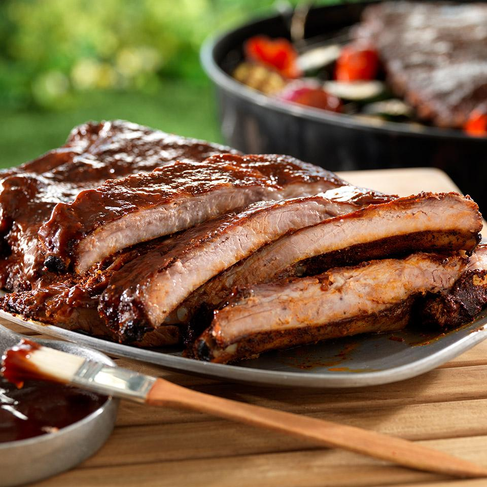 Cider-Mopped Spareribs