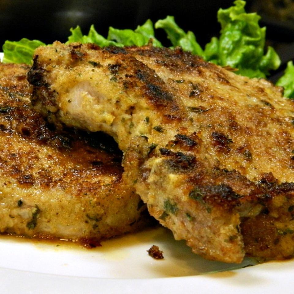 Breaded Lemon Zest Pork Chops