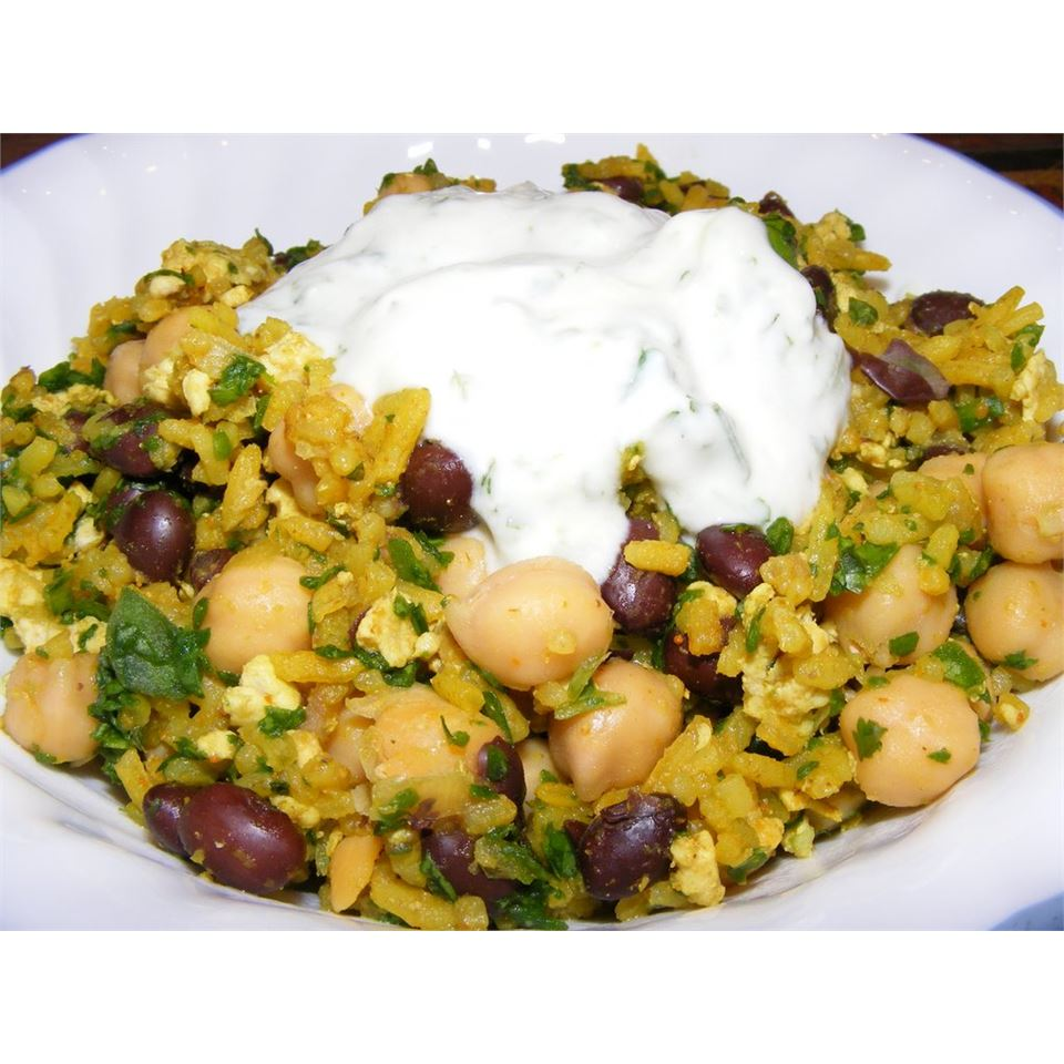 Middle Eastern Rice with Black Beans and Chickpeas Cheryl in Canada