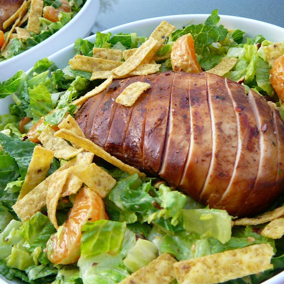 Grilled Wonton Chicken Salad