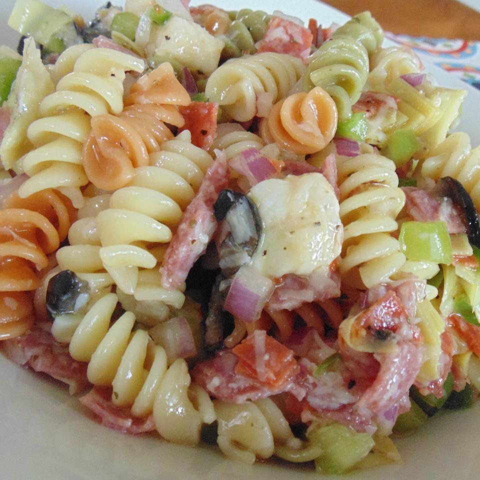 Salami and Kalamata Primavera Salad