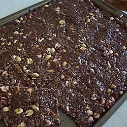 chewy chocolate peanut bars recipe
