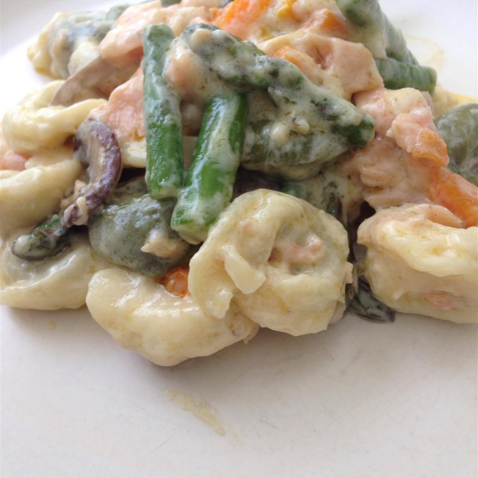 Smoked Salmon Tortellini with Bechamel Sauce