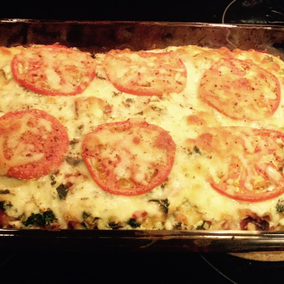 Low Fat Cheesy Spinach and Eggplant Lasagna Erin Hamilton