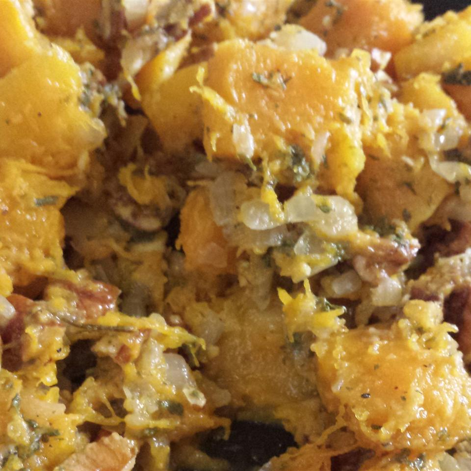 Butternut Squash with Onions and Pecans Sherrie Perez