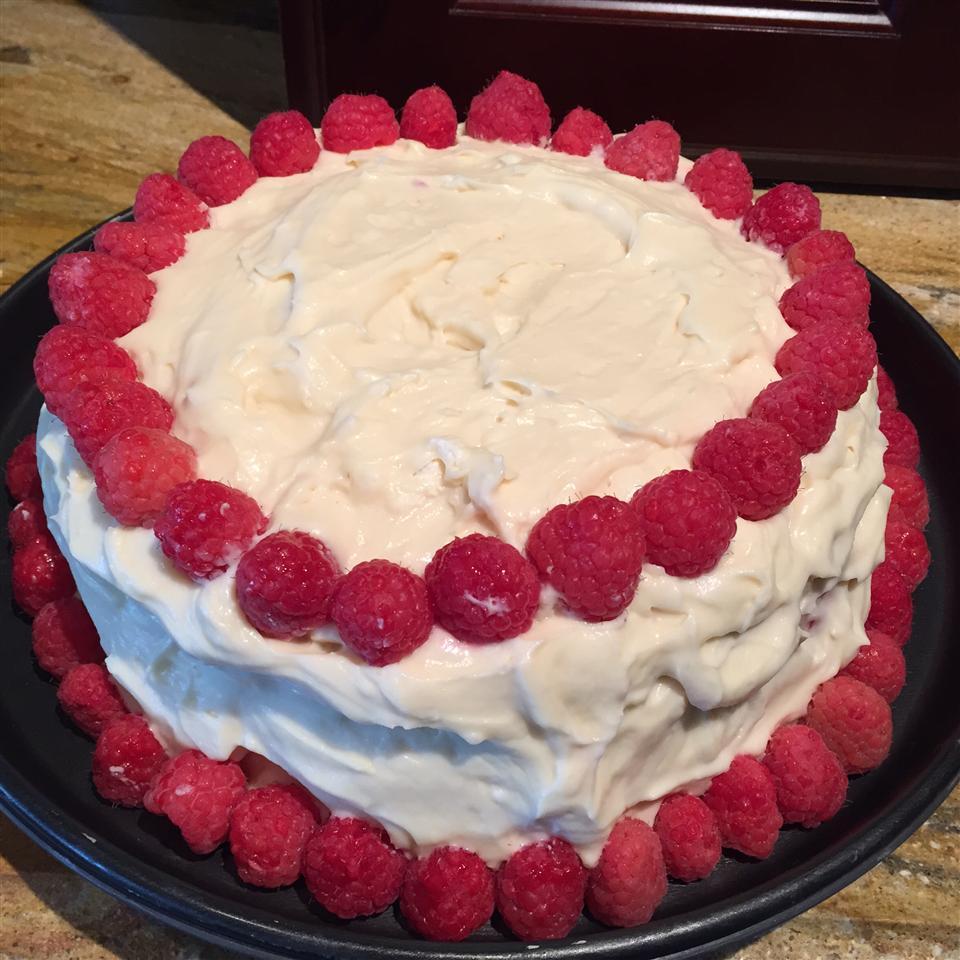 Lemon Raspberry White Chocolate Mousse Cake