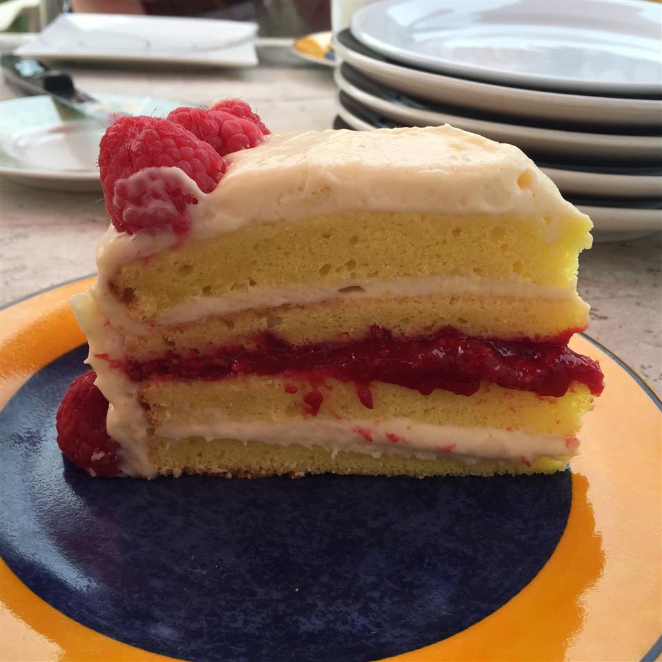Lemon Raspberry White Chocolate Mousse Cake EmergGirl