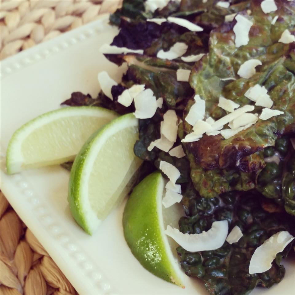 Coconut and Lime Grilled Kale Snacking in the Kitchen