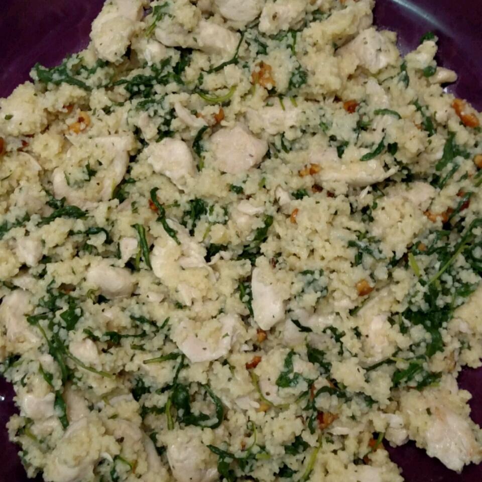 Arugula, Chicken, and Walnut Couscous