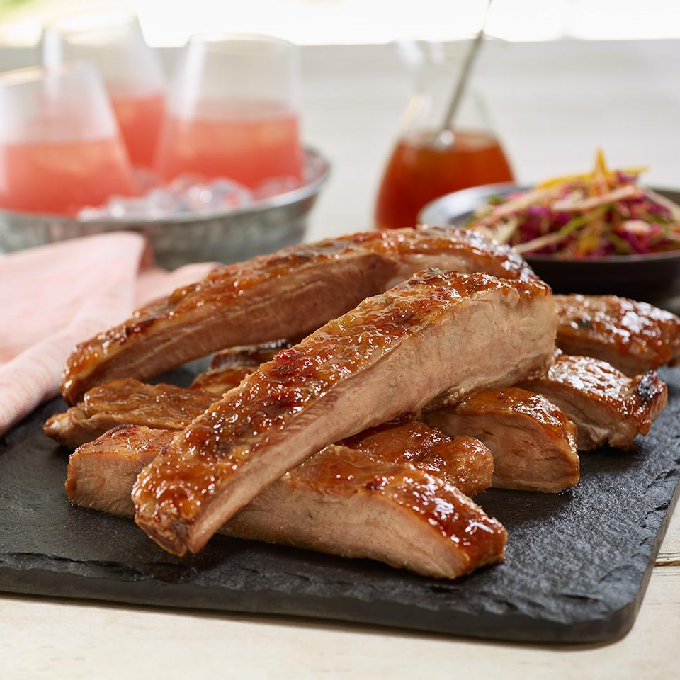 Peach Glazed Ribs