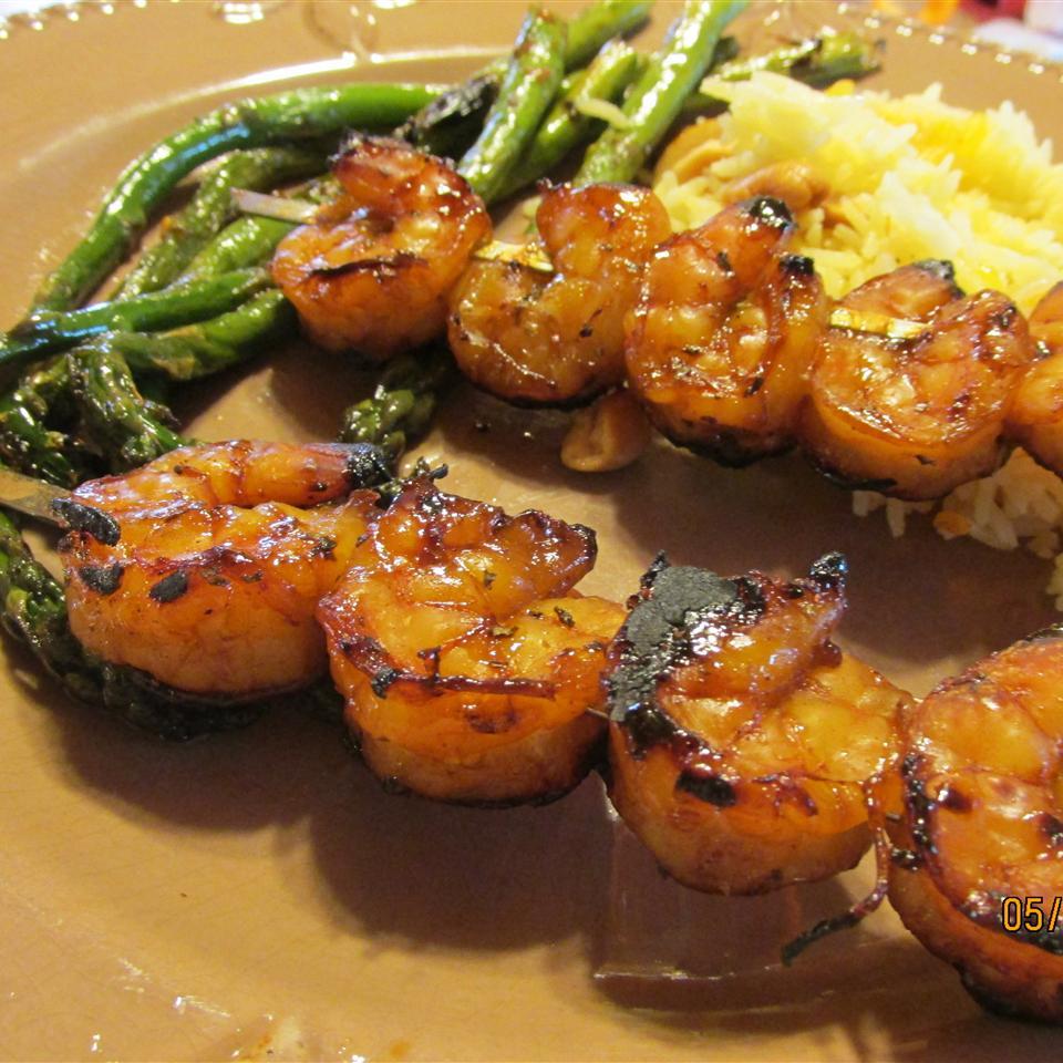 Sweet Grilled Shrimp Skewers