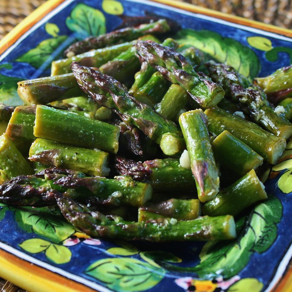 Roasted Asparagus with Sea Salt and Parmesan