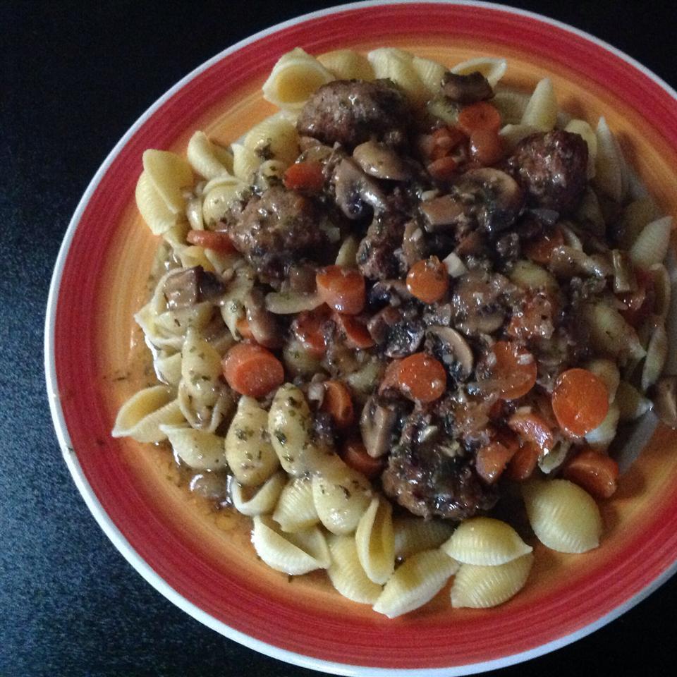 Beef Meatball Bourguignon