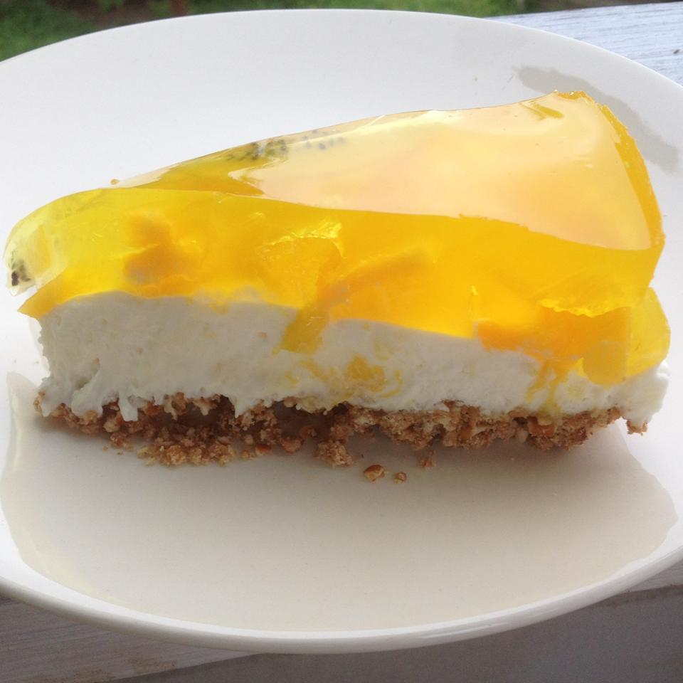 Lemon Pretzel Salad with Mango and Kiwi Gremolata