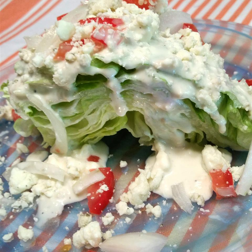 Wedge Salad with Elegant Blue Cheese Dressing Sheila LaLonde