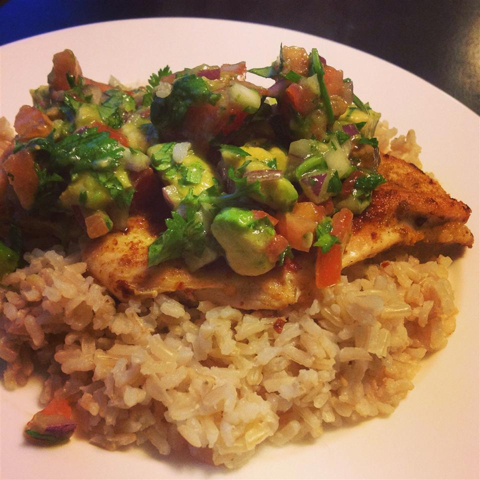 Cumin Rubbed Chicken with Avocado Salsa CookieEater