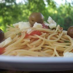 Fettuccini with Salsa Cruda and Feta