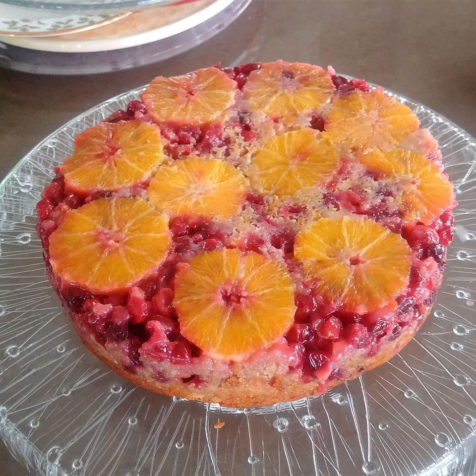 Cranberry Upside-Down Sour Cream Cake Bruce Schwass