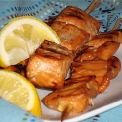 Grilled Salmon Skewers Angela F.