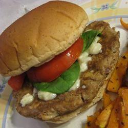 Mushroom Blue Cheese Turkey Burgers Dianne