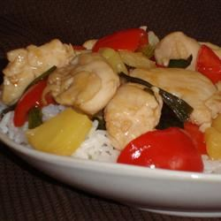 Stir-Fried Chicken With Pineapple and Peppers Angela F.