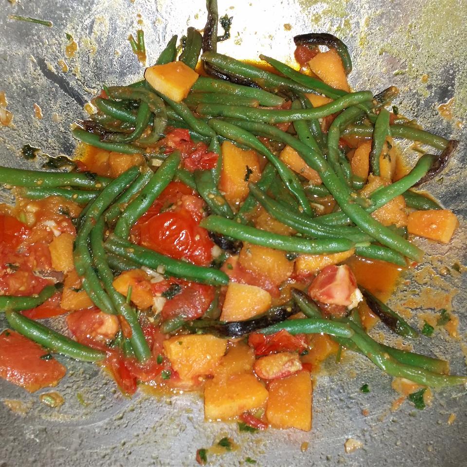 Squash and Green Bean Saute Side Dish