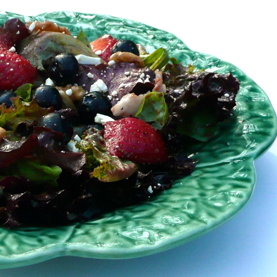 Spring Salad with Blueberry Balsamic Dressing