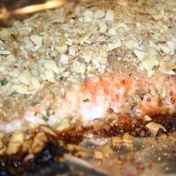 Alaska Salmon Bake with Pecan Crunch Coating