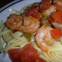 Linguine Pasta with Shrimp and Tomatoes aly
