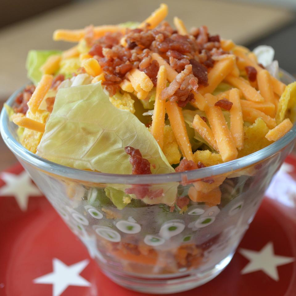 Layered Pea Salad