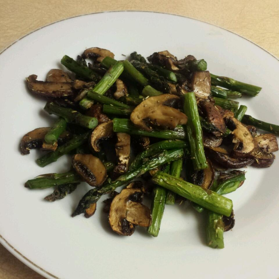 Roasted Asparagus and Mushrooms AC