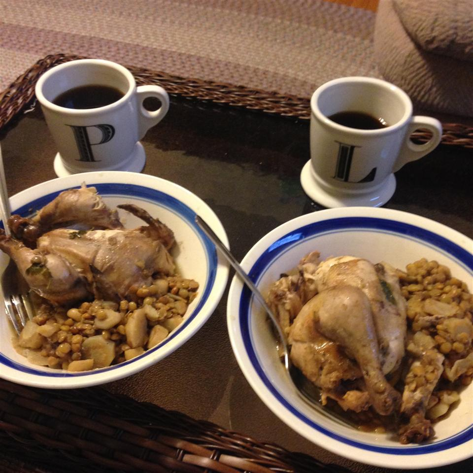 Slow Cooker Cornish Hens